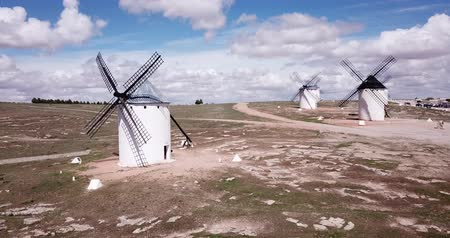 ciudad : Scenic view from the windmills of the Spanish municipality of Campo de Criptana
