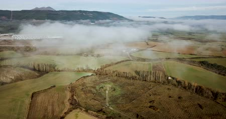 mlhavý : Aerial picturesque view of green valley of Navarre, Spain