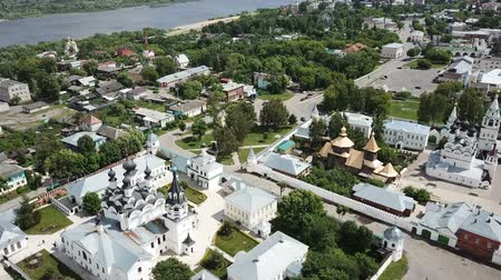 annunciation : Picturesque city landscape of Murom on Oka river with two main monasteries, Russia