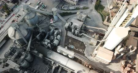 ротор : Aerial view of a huge cement plant with warehouses in Catalonia, Spain