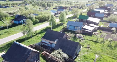 homeopático : Aerial view of  city of Nikolo-Ushna,  typical village of Vladimir region, Russia