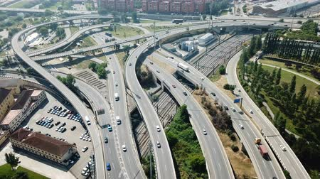 fare : Image of car interchange of Barcelona in the Spain.