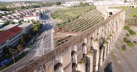 outlook : Aqueduct in old city of Elvas. Portugal