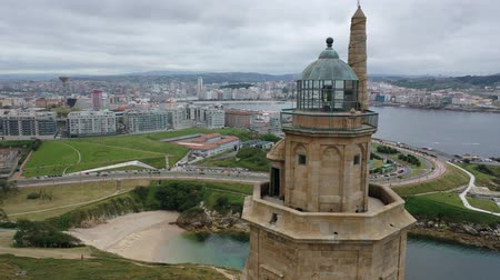 hercule : Tower of Hercules (Torre de Hercules) lighthouse located in the city of La Coruna. Galicia, Spain
