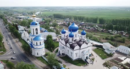 ortodoxie : Bogolyubsky monastery from helicopter. City vladimir. Russia