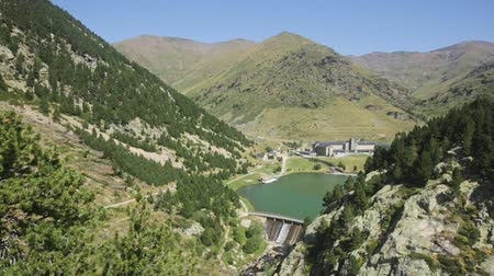 pyreneje : Picturesque view over green Vall de Nuria valley in Pyrenees mountains, Catalonia, Spain