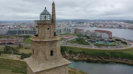 built structure : Tower of Hercules (Torre de Hercules) lighthouse located in the city of La Coruna. Galicia, Spain