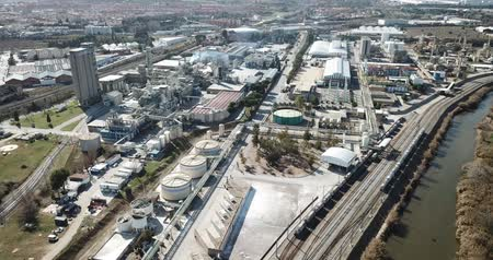 baca : Top view of the chemical plant and the surrounding area