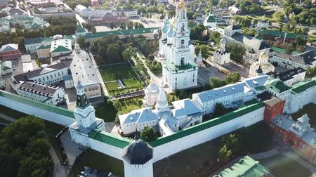 Panoramic aerial view of Trinity Lavra of St. Sergius  in Sergiev Posad