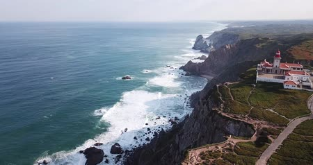 View of the Atlantic Ocean from Cape Roca (Cabo da Roca) - most westerly point of the Eurasian continent, Portugal