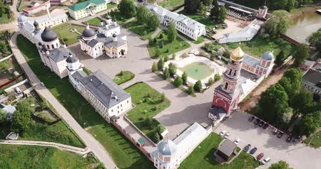ortodoxie : Holy Ascension Davids desert from helicopter. Moscow region. Russia