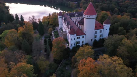 Čechy : Panoramic view from drone of castle Konopiste Castle. Czech Republic