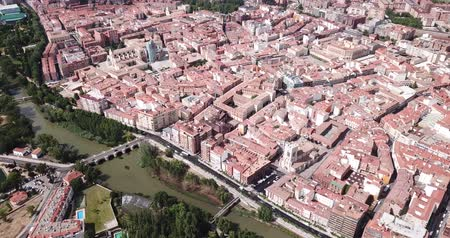 haziran : Aerial view on the city Palencia. Spain