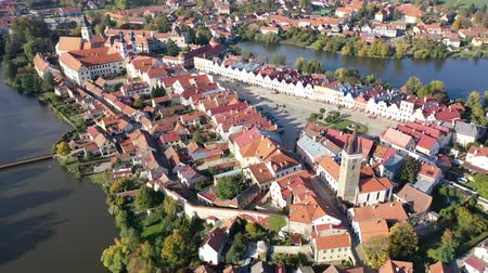 rendes : Aerial view on the city Telc. Czech Republic
