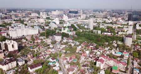 voronezh : View from drone of historic center and modern residential areas of Voronezh city, Russia Stock Footage