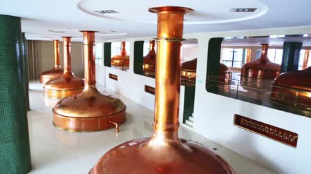 beer house : Tanks for storage and fermentation of beer in beer factory