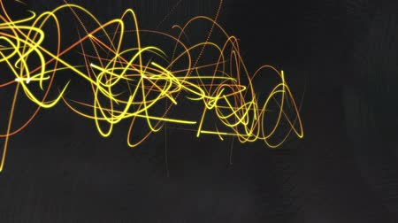 papel de parede : A glowing set of neon, organic animated lines. Vídeos