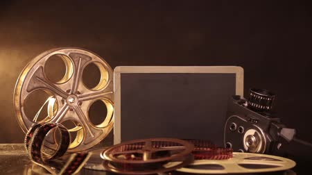 film slate : Retro film production accessories still life
