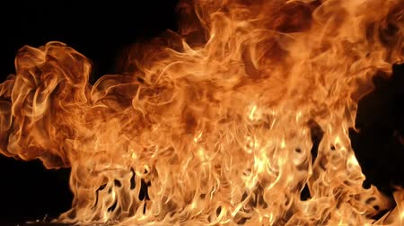 isolar : Slow motion of fire blasts isolated on black background. Filmed on high speed camera, 1000 fps