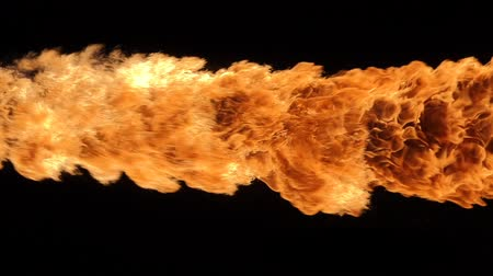 fireball : Slow motion of fire blasts isolated on black background.