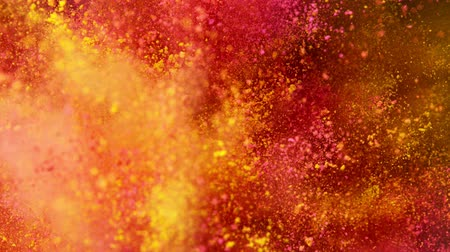 Super slow motion of colored powder explosion. Filmed on high speed cinema camera, 1000fps. Stock Footage