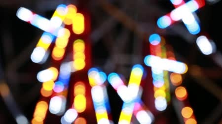 targi : colorful flashing carnival lights on a ride