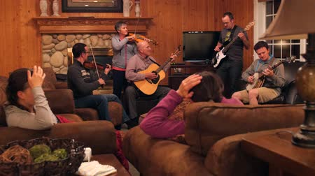 acoustical : A family gets together to play music and enjoy one anothers company
