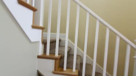 entry level : a jib shot of a stairwell in a new house