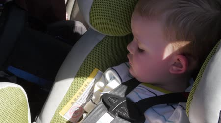 ailelerin : A little boy sleeping in his car seat
