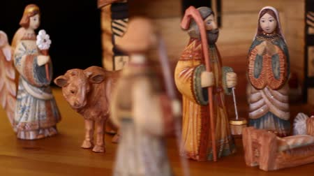 İncil : A nativity scene Stok Video