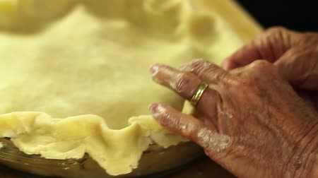 pino : a woman baking a delicious apple pie for dessert in her home kitchen