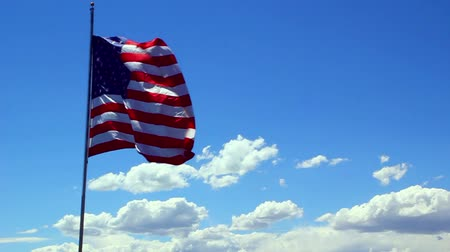 usa : The Flag of the United States of America blowing in the wind