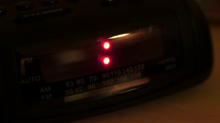 acorde : A digital alarm clock that has been reset when the power went was turned off Stock Footage