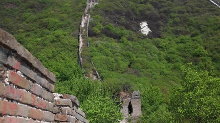 great wall of china : the jiankou section of the great wall of china in near beijing.  man made wonder of the world.