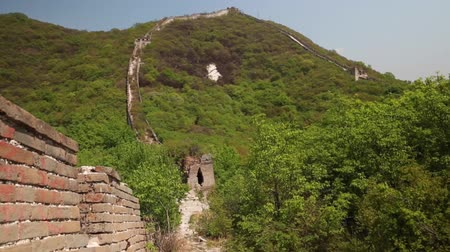 great wall of china : an old section of the great wall of china