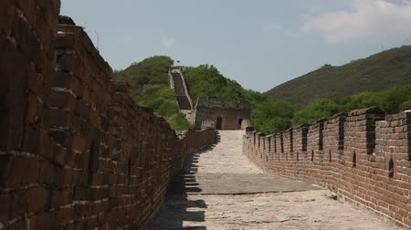 mutianyu section : the jiankou section of the great wall of china in near beijing.  man made wonder of the world.