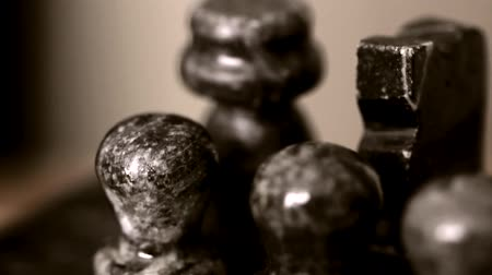 rytíř : Antique stone chess board dolly shot Dostupné videozáznamy