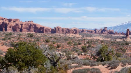 sál : Beautiful views of redrock arches and formations in Arches National Park in Souther Utah, USA.