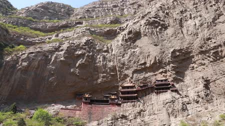 budha : tourists visit the hanging temple monastery in datong china