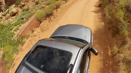 venkovský : an suv driving through capitol reef national park in southern utah
