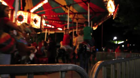 targi : Carousel and bright lights Wideo