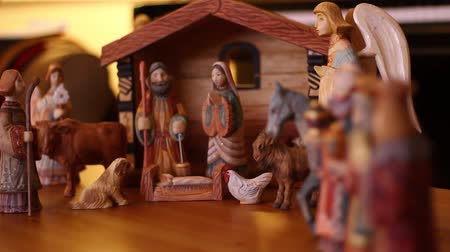koń : A beautiful hand carved and painted Nativity Creche