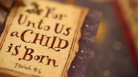 Библия : christmas tag for unto us a child is born