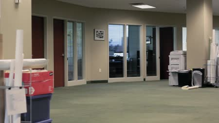 rolety : An empty office space Wideo