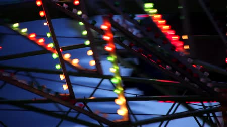 recreatie : Close-up van Carnival Lights Stockvideo