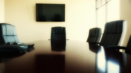 sala konferencyjna : conference room chairs at office dolly shot