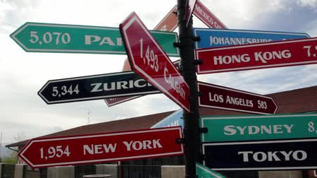 birleşik : Sign post with different countries