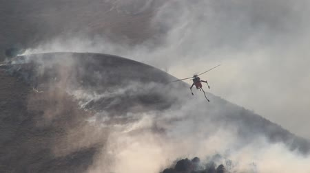 bush fire : Helicopter Battling Wildfire