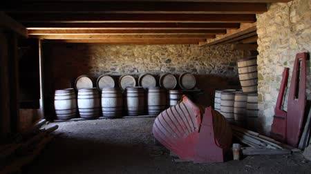 pincészet : Large Wooden Barrels Under in Castle