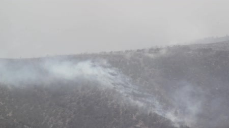 bush fire : Mountainside After Fire Stock Footage